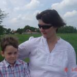 Nejem és gyermekem lovaskocsizik Rákoscsabán