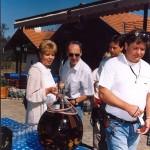 óvatos ágyaspálinka-mustra Koszorúsné Tóth Katalin és Fohsz Tivadar társaságában