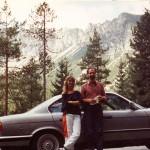 Húgommal, Bács Katival a Bajor-Alpokban, 1990. szeptemberében