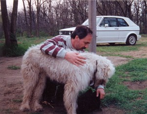 2002-ben, Ladánybene közelében, barátom tanyáján