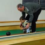 gyermekemmel a rákoshegyi tekepályán 2010.-ben